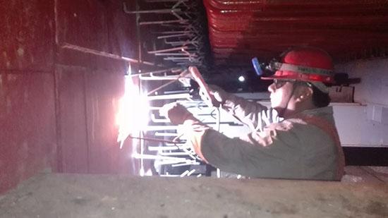 江苏盐城钢铁厂320吨余热锅炉尾部炉墙施工.jpg